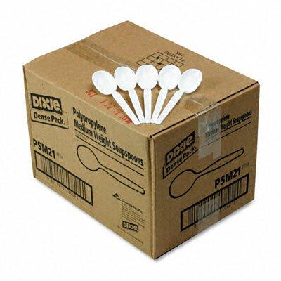 Dixie Plastic Cutlery, Mediumweight Soup Spoons, 1000/Carton