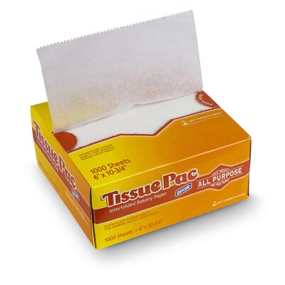 Dixie Tissue-Pac Lightweight Dry Waxed Interfolding Tissue in White