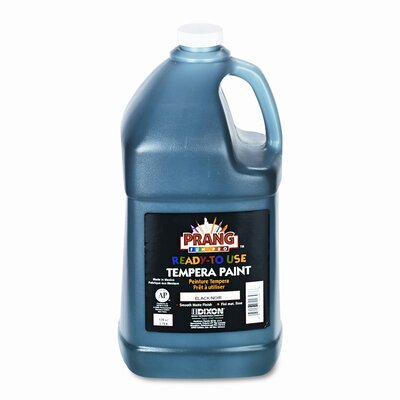 Dixon® Ready-to-Use Tempera Paint, Black, One Gallon