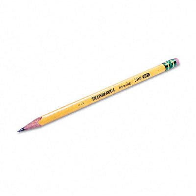 Dixon® Ticonderoga Tri-Write Woodcase Pencil, Hb #2, 12/Pack
