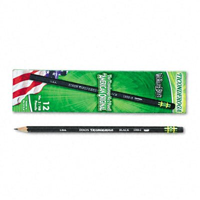 Dixon® Ticonderoga Woodcase Pencil, Hb #2, 12/Pack