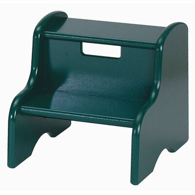 Kid's Step Stool in Hunter Green