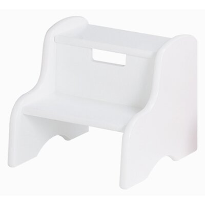 Kid's Step Stool in White