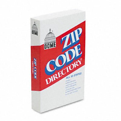 Dome Publishing Company, Inc. Dome Zip Code Directory, Paperback, 750 Pages