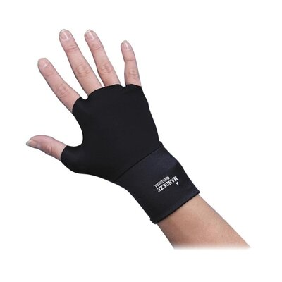 Dome Publishing Company, Inc. Ergonomic Therapeutic Support Gloves, Black, 2 Sizes