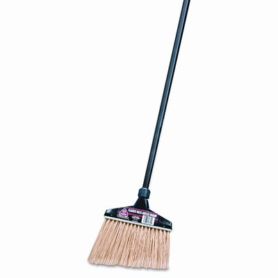 "DRACKETT PROFESSIONAL                              Maxi-Angler Broom, Polystyrene Bristles, 51"" Aluminum Handle, Black/Natural"