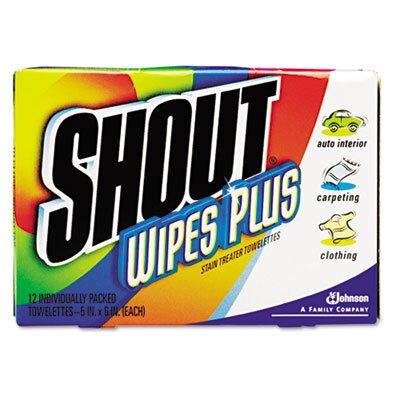 DRACKETT PROFESSIONAL                              Shout Wipe and Go Instant Stain Remover, 80/Carton