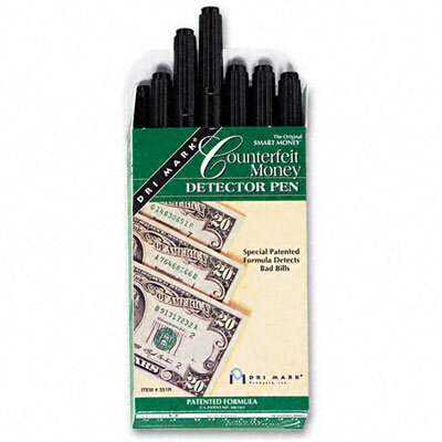 Smart Money Counterfeit Bill Detector Pen for Use with U.S. Currency, 12/Pack