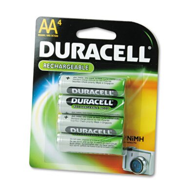 Duracell Rechargeable Ni-MH Batteries, AA, 4/pack