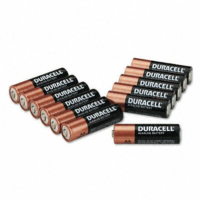 Duracell Coppertop Alkaline Batteries, AA, 12/pack