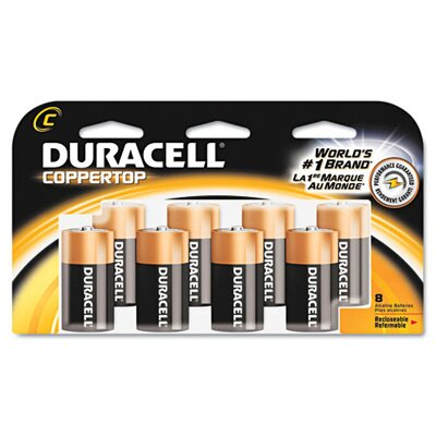 Duracell C-Cell Coppertop Alkaline Batteries