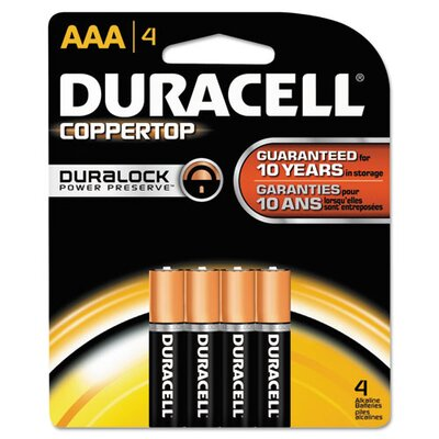 Duracell CopperTop Alkaline AAA Battery (Pack of 4)