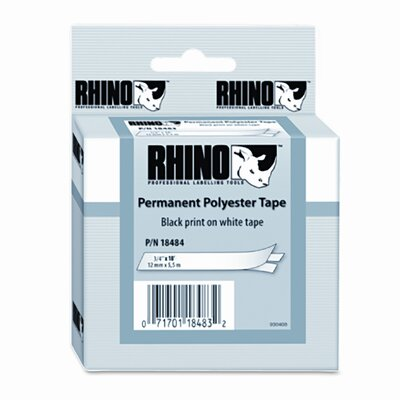 "Dymo Corporation Rhino Permanent Poly Industrial Label Tape Cassette 0.75"" X 18'"