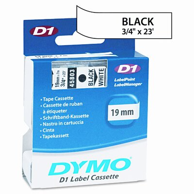 "Dymo Corporation D1 Standard Tape Cartridge for Label Makers, 0.75"" x 23'"