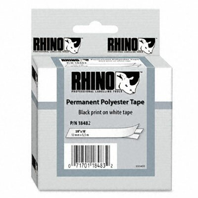 "Dymo Corporation Rhino Permanent Poly Industrial Label Tape Cassette 0.37"" X 18'"