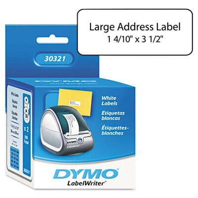 Dymo Corporation Address Labels, 1-2/5 X 3-1/2, 520/Box
