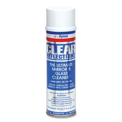 Dymon Aerosol Glass Cleaner, 20 oz, Residue-free