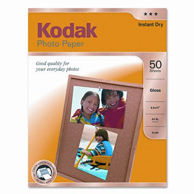 Eastman Kodak Photo Paper, 6.5 Mil, 8-1/2 X 11, 50 Sheets/Pack