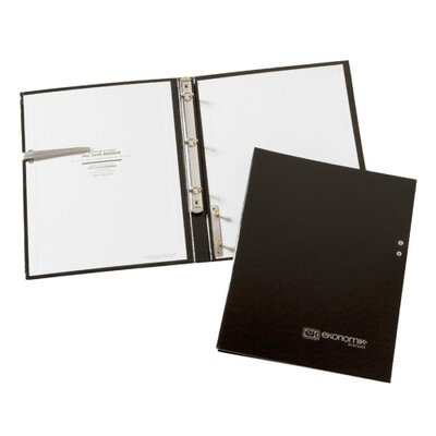 "Ekonomik Ring Binder, Check Holder, Closed 13-1/2""x15-3/4"", Black"