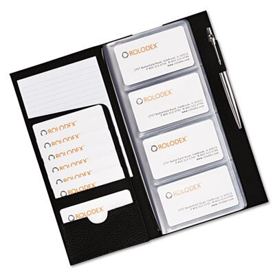 Eldon® Rolodex Low Profile Business Card Book, 96 Card Capacity