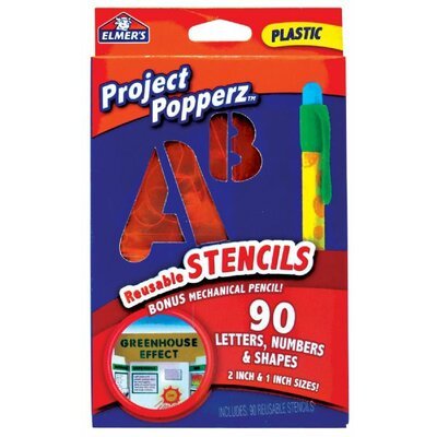 Elmer's Products Inc Project Count Popperz 90 Piece Reusable Stencils Set