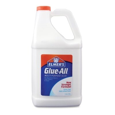 Elmer's Products Inc Glue-All White Glue, Repositionable, 1 Gal