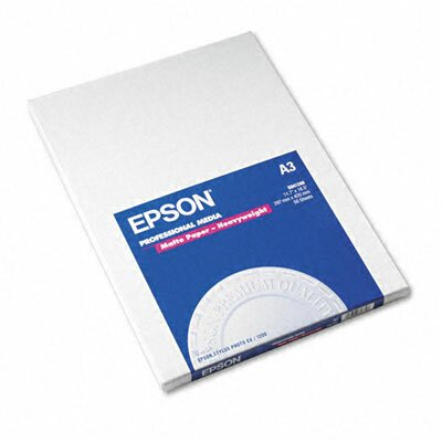 Epson America Inc. S041260 Premium Matte Presentation Paper, 45 Lbs., 11-3/4 X 16-1/2, 50 Sheets/Pack