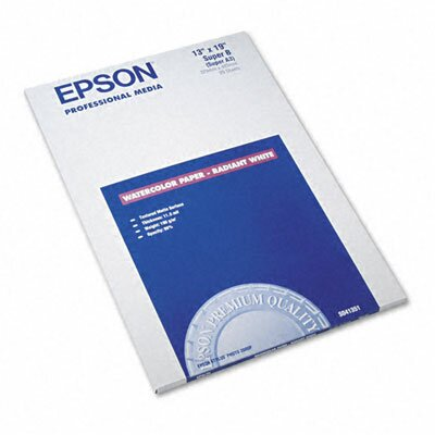 Epson America Inc. Watercolor Radiant Inkjet Paper, 20/Pack