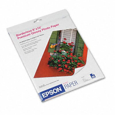 "Epson America Inc. Premium Photo High-Gloss Paper, 8"" x 10""/Pack"