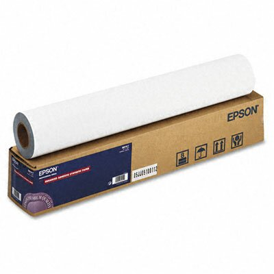 "Epson America Inc. Enhanced Adhesive Synthetic Paper, 135g, 24""w, 100'l, White, Roll"
