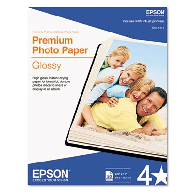 Epson America Inc. High-Gloss Premium Photo Paper, 50 Sheets/Pack