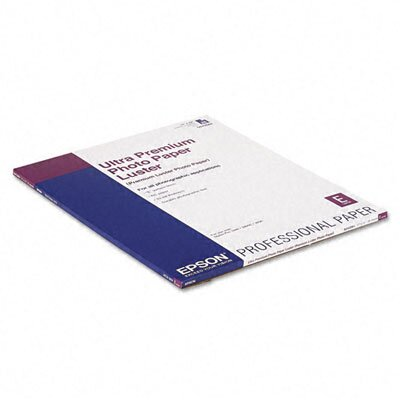 Epson America Inc. S042084 Luster Ultra-Premium Photo Paper, 17 x 22, 25 Sheets per Pack
