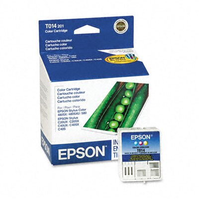 Epson America Inc. T014201 (T014401) Ink Cartridge, Tri-Color (Cyan, Magenta, Yellow)