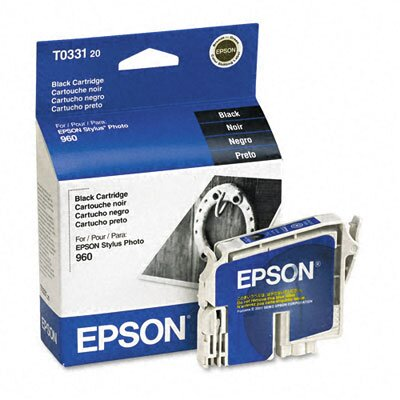 Epson America Inc. T033120 Inkjet Cartridge, Black