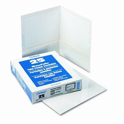 Esselte Pendaflex Corporation Oxford High Gloss Laminated Paperboard Folder, 100-Sheet Capacity, 25/Box