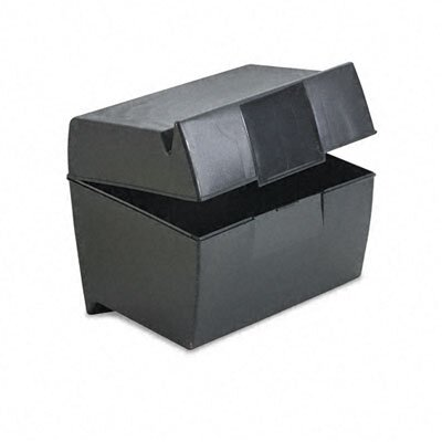Esselte Pendaflex Corporation Oxford Plastic Index Card Flip Top File Box Holds 500 5 x 8 Cards