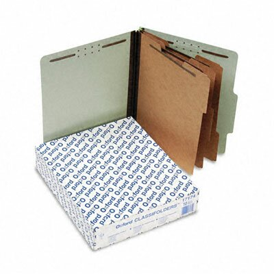 Esselte Pendaflex Corporation Pressboard Classification Folders, Letter, Eight-Section, 10/Box