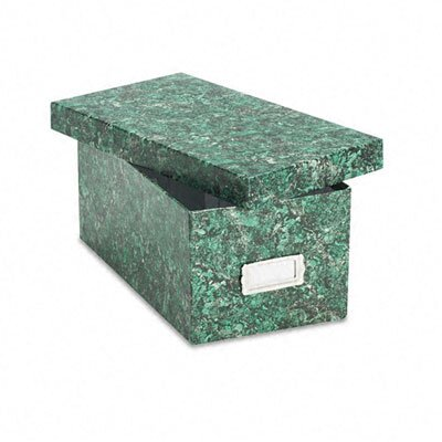 Esselte Pendaflex Corporation Reinforced Board Card File, Lift-Off Lid, Holds 1200 4 x 6 Cards, Green Marble