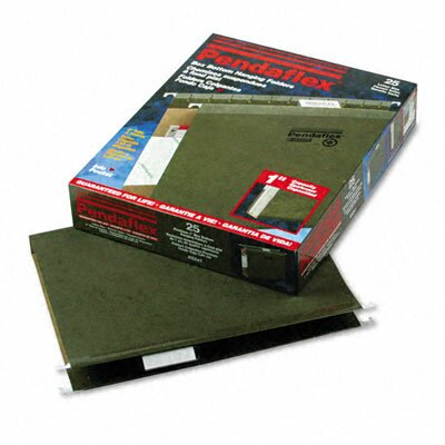 "Esselte Pendaflex Corporation Reinforced 1"" Extra Capacity Hanging Folders, Letter, 25/Box"