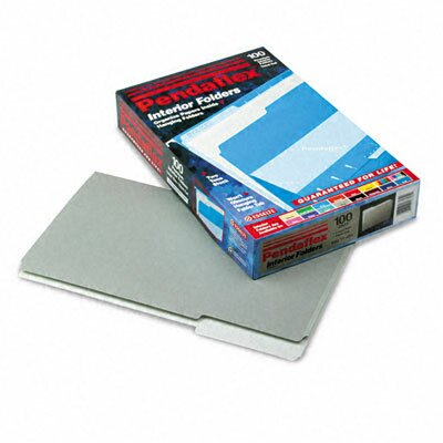 Esselte Pendaflex Corporation Interior File Folders, 1/3 Cut Top Tab, Legal, 100/Box