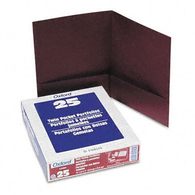 Esselte Pendaflex Corporation Oxford Twin-Pocket Linen Paper Portfolio