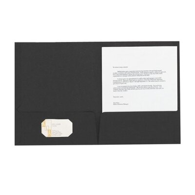 Esselte Pendaflex Corporation Linen Twin Pocket Portfolios, Letter, 5 per Pack, Black