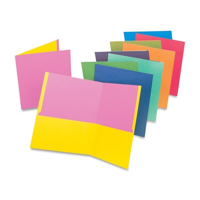 "Esselte Pendaflex Corporation Twin Pocket Portfolio, 11""x8-1/2"", 50/BX, Assorted"