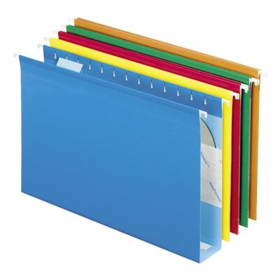 Esselte Pendaflex Corporation Hanging Folders, w/Box Bottoms, 25 per Box, Various Colors