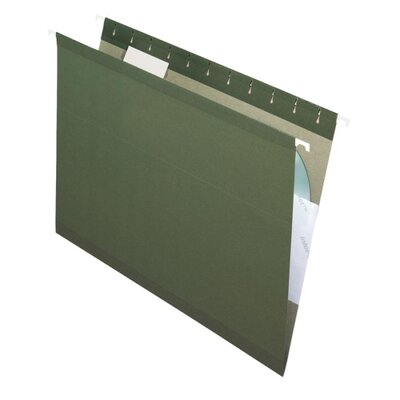 Esselte Pendaflex Corporation Reinforced Hanging File Folders, 1/5 Tab, Kraft, Legal, 25/Box