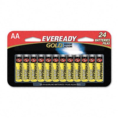 Energizer® Eveready Gold Alkaline Batteries, Aa, 24 Batteries/Pack