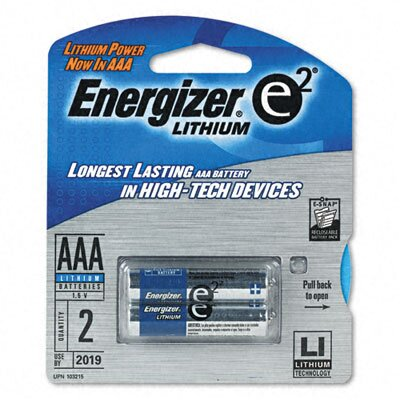 Energizer® e² Lithium Batteries, AAA, 2/pack
