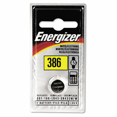 Energizer® Watch/Electronic Battery, Silvox, 386, 1.5V, Mercfree
