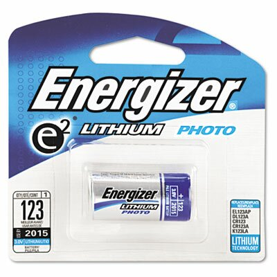 Energizer® e² Lithium Photo Battery, 123, 3V