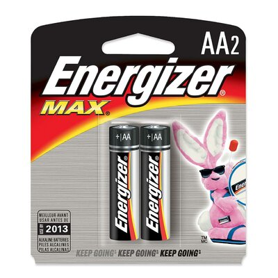 Energizer® Max Alkaline Batteries, Aa, 2 Batteries/Pack